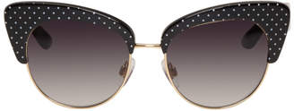 Dolce & Gabbana Gold and Black Cat Eye Sunglasses