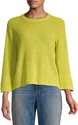 Eileen Fisher Organic Linen & Cotton Crewneck Sweater