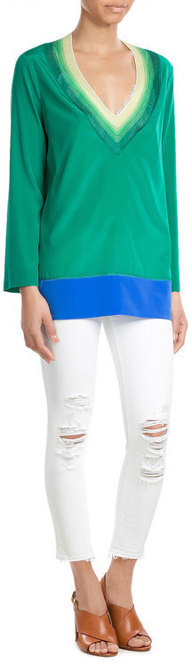 MissoniMissoni Silk-Blend Tunic Blouse