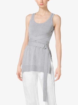 Michael Kors Compact Cotton Wrap Tank