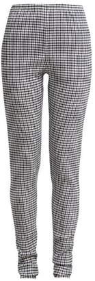 Jil Sander Crinkle Gingham Leggings - Womens - Navy White