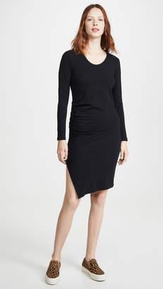 Sundry Long Sleeve Ruched Dress