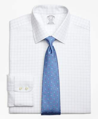 Brooks Brothers Regent Fitted Dress Shirt, Non-Iron Royal Oxford Windowpane