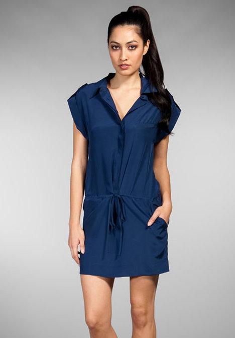 LA Made Lucia Silk Crepe De Chine Jumper Dress