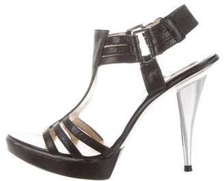 MICHAEL Michael Kors Leather T-Strap Sandals