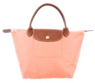 Longchamp Leather-Trimmed Le Pliage Tote