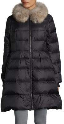 Kate Spade Faux Fur-Trimmed Down Puffer Jacket