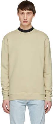John Elliott Beige Crewneck Sweatshirt