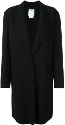DKNY single breasted coat $703.10 thestylecure.com