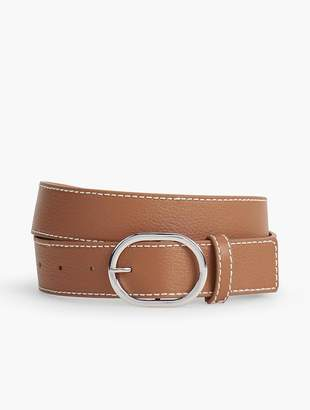 Talbots Womans Exclusive Pebble Leather Belt