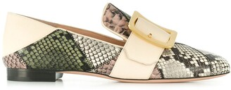 Bally patchwork loafers