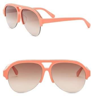 Stella McCartney 58mm Chain Aviator Sunglasses
