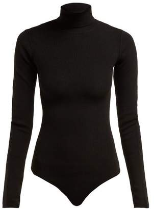 Khaite - Cate Roll Neck Ribbed Knit Bodysuit - Womens - Black