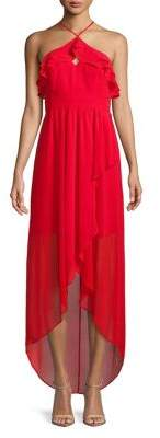 BCBGeneration Sleeveless Hi-Lo Maxi Dress