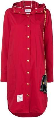 Thom Browne Mrs. Thom Patch Hooded Shirtdress