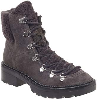 bc4aa522250 Marc Fisher Capell Genuine Shearling Cuff Lace-Up Boot
