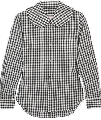 Comme des Garçons GIRL - Gingham Cotton-poplin Shirt - Black $350 thestylecure.com