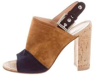 Gianvito Rossi Colorblock Slingback Sandals