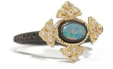 Armenta Cravelli Cross Stacking Ring with Diamonds - Opal