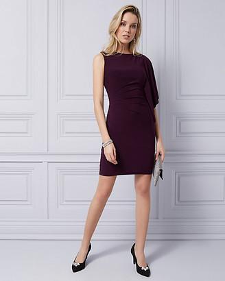 Le Château Knit One Shoulder Cape Dress