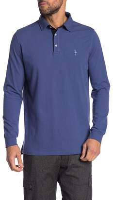 Tailorbyrd Long Sleeve Two-Tone Polo