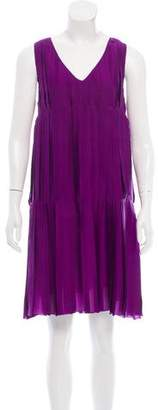 Derek Lam Pleated Silk Dress