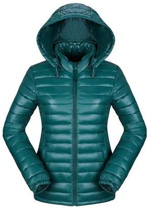 KINDOYO Women's Winter Cotton Ultra Light Puffer Jacket Coat