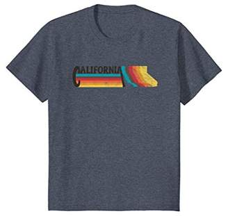 RETRO 70s 80s STYLE CALIFORNIA Rainbow Silhouette TShirt