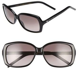 Women's Marc Jacobs 57Mm Sunglasses - Black $130 thestylecure.com