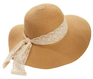 1d6399a4153a4 Time and Tru Women s Lace Trim Floppy Hat