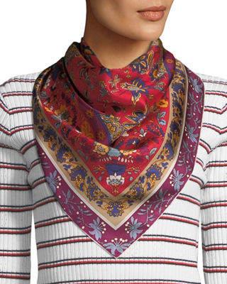 Max Studio Paisley Printed Silk Scarf