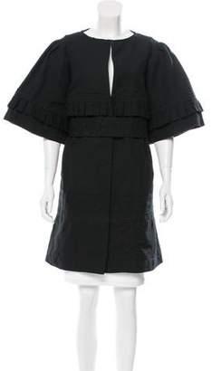 Leroy Veronique Linen-Blend Belted Jacket