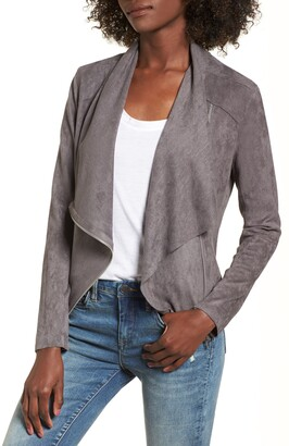 Blank NYC BLANKNYC Drape Front Faux Suede Jacket