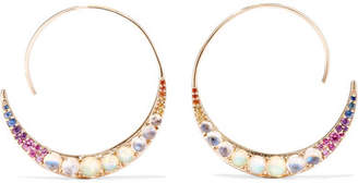 Noor Fares Tribal 18-karat Gold And Enamel Multi-stone Earrings