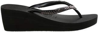 Havaianas 40mm Metal Chain Rubber Wedge Flip Flops
