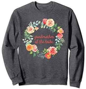 Grandmother of the Bride Matching Wedding Sweatshirt Floral