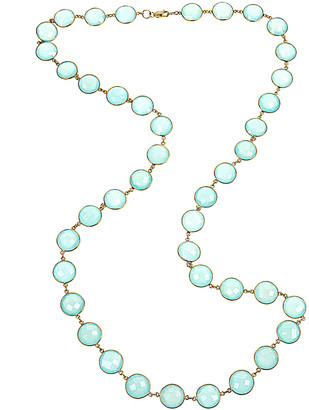 Forever Creations USA Inc. Forever Creations 18K Over Silver 120.00 Ct. Tw. Sea Green Chalcedony 36In Neckl