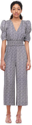 Rebecca Taylor Lauren Floral Silk Jacquard Jumpsuit