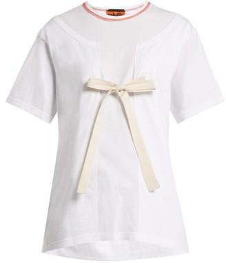 Colville - Double Layer Cotton T Shirt - Womens - White Multi