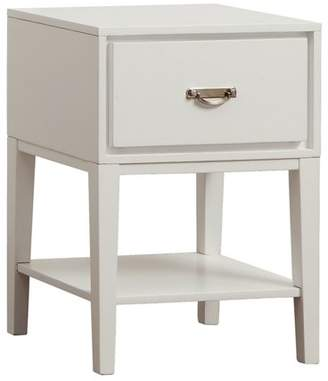 Weston Home Lucas Rectangle Bedroom End Table with Drawer, Multiple Table Finishes