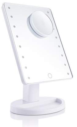pretty see Desktop Makeup Mirrors Touch Screen 16 LEDs Cosmetic Mirror with Removable 10x Magnifying Mirrors
