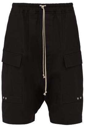 Rick Owens Drawstring Cotton Cargo Shorts - Mens - Black