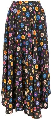 Lhd floral print drape dress
