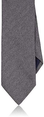 Barneys New York MEN'S HERRINGBONE-WEAVE SILK NECKTIE