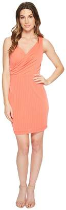 CeCe Stephanie - Crinkle Knit Faux Wrap Dress Women's Dress