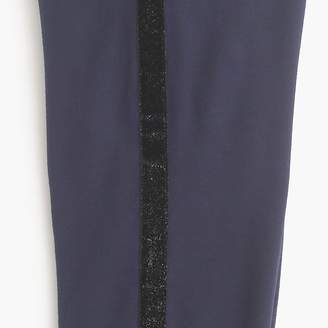 J.Crew Girls' slim slouchy fleece sweatpant with glitter tux stripe
