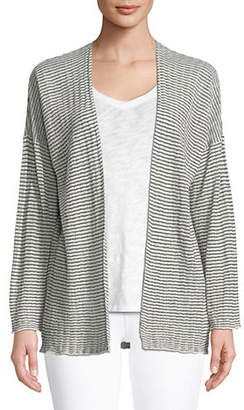 Eileen Fisher Ribbed Stripe Cardigan
