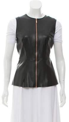 Cédric Charlier Faux Leather Vest