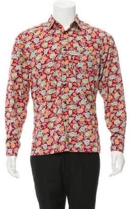 Dries Van Noten Floral Print Button-Up Shirt