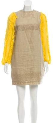 See by Chloe Embroidered Linen Dress